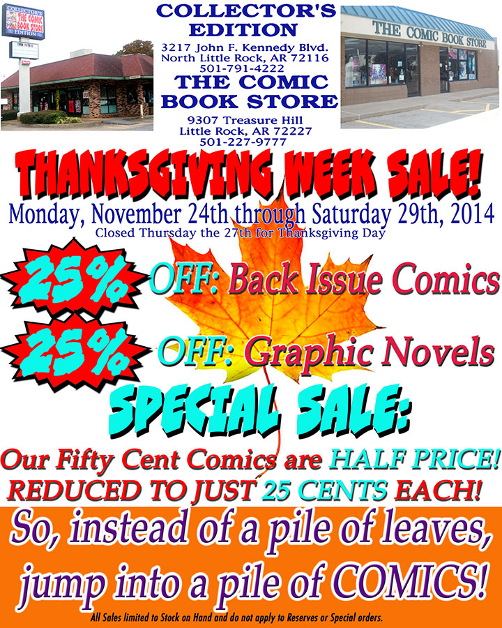 2014 Thanksgiving Week Sale!