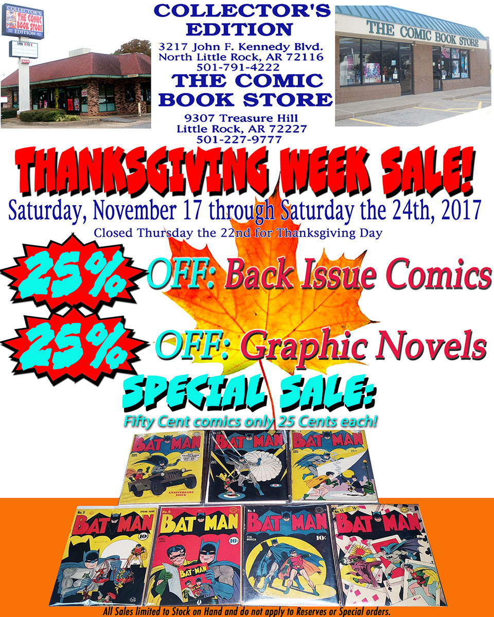2018 Thanksgiving Week Sale