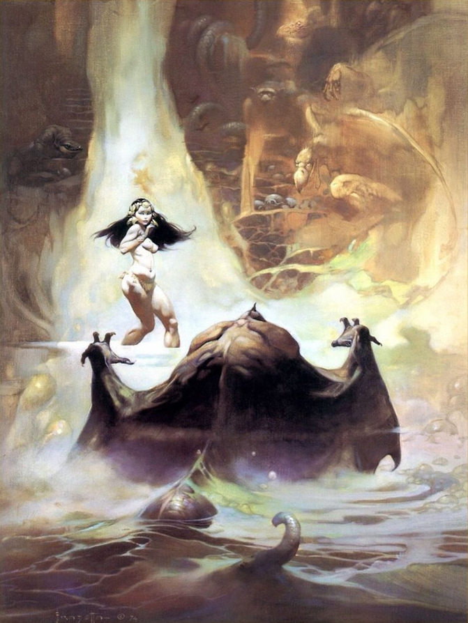At the Earth's Core by Frazetta