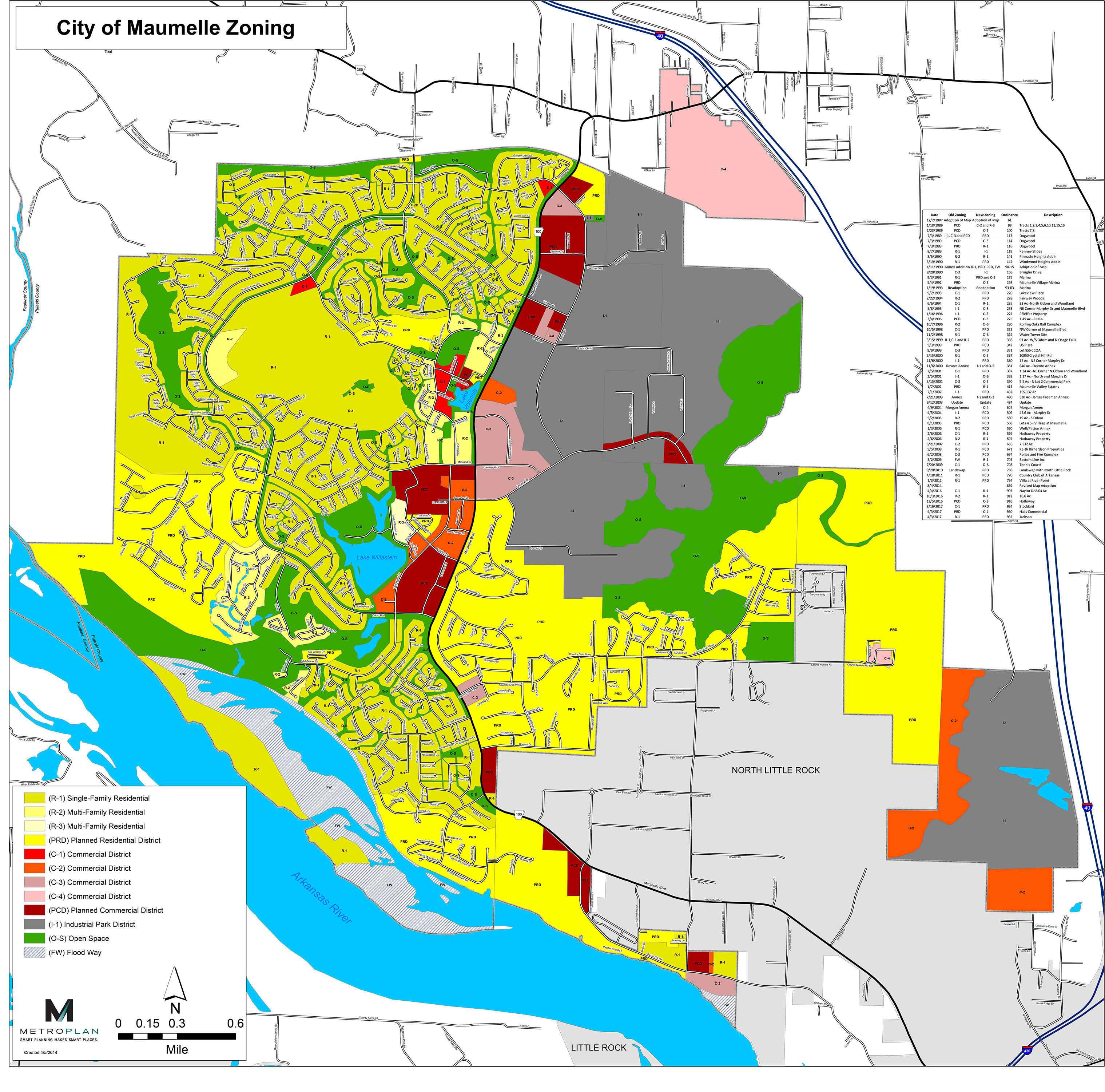 Maumelle Zoning Map