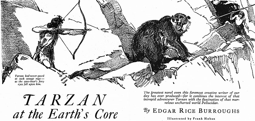 Tarzan at the Earth's Core - Blue Book Magazine