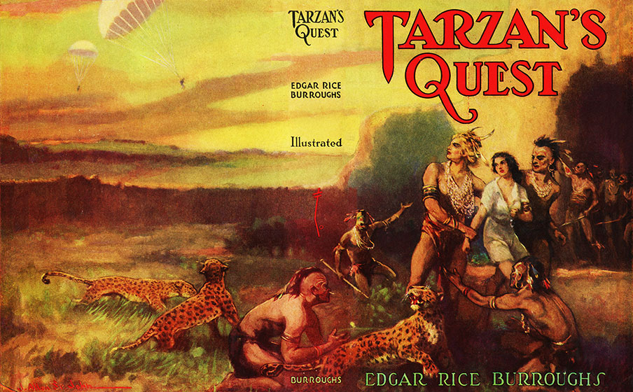 Tarzan's Quest 1st Edition dust wrapper