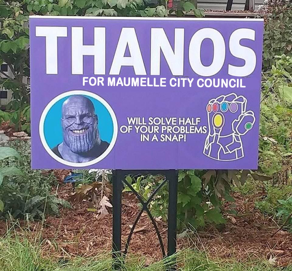 Thanos for City Council